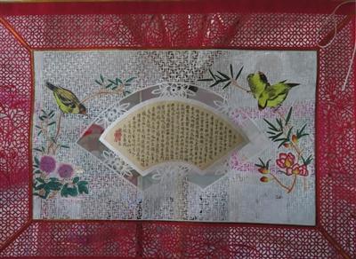 瓜子蝴蝶粘贴画图片